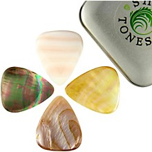 Timber Tones Shell Tones Mixed Tin of 4 Guitar Picks