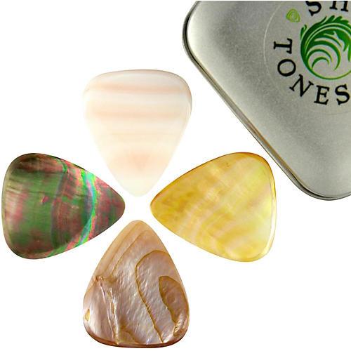 Timber Tones Shell Tones Mixed Tin of 4 Guitar Picks
