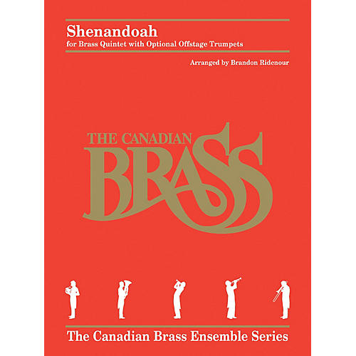 Hal Leonard Shenandoah Brass Ensemble Series by Traditional Arranged by Brandon Ridenour-thumbnail