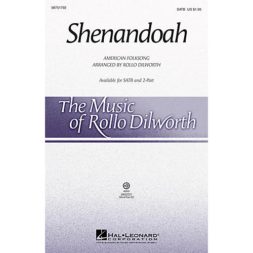 Hal Leonard Shenandoah SATB arranged by Rollo Dilworth-thumbnail