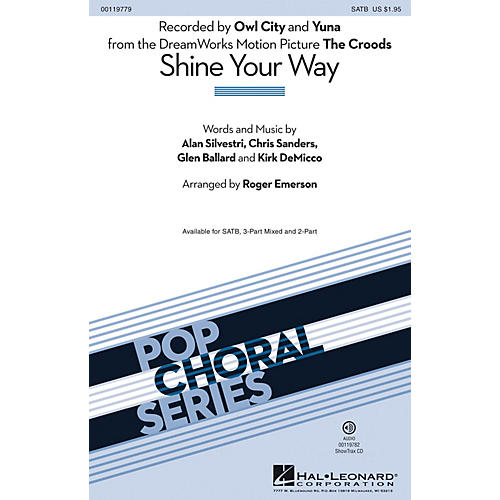 Hal Leonard Shine Your Way (from The Croods) (2-Part Mixed) 2-Part by Owl City Arranged by Roger Emerson-thumbnail