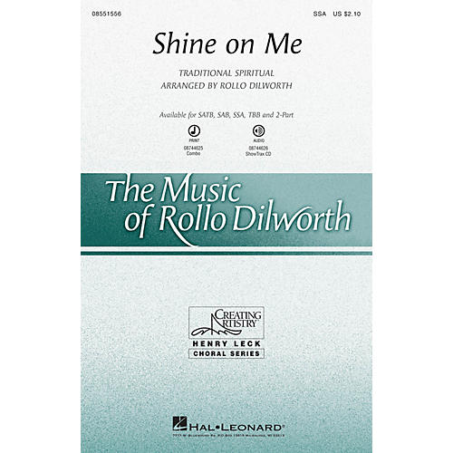 Hal Leonard Shine on Me 2-Part Arranged by Rollo Dilworth-thumbnail
