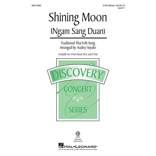 Hal Leonard Shining Moon (Ngam Sang Duan) Discovery Level 1 3-Part Mixed arranged by Audrey Snyder
