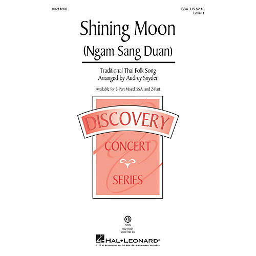 Hal Leonard Shining Moon (Ngam Sang Duan) (Discovery Level 1) SSA arranged by Audrey Snyder-thumbnail