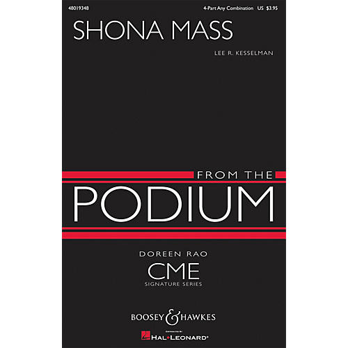 Boosey and Hawkes Shona Mass (CME From the Podium) 4 Part Any Combination composed by Lee R. Kesselman-thumbnail