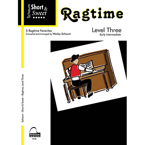 SCHAUM Short & Sweet: Ragtime (Level 3 Early Inter Level) Educational Piano Book-thumbnail