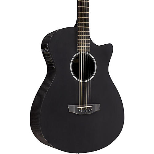 RainSong Shorty Satin Acoustic-Electric Guitar Graphite