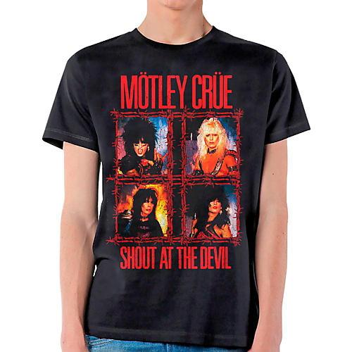 Motley Crue Shout Wire T-Shirt Large Black