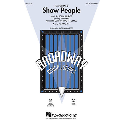 Hal Leonard Show People (from Curtains) SATB arranged by Mac Huff