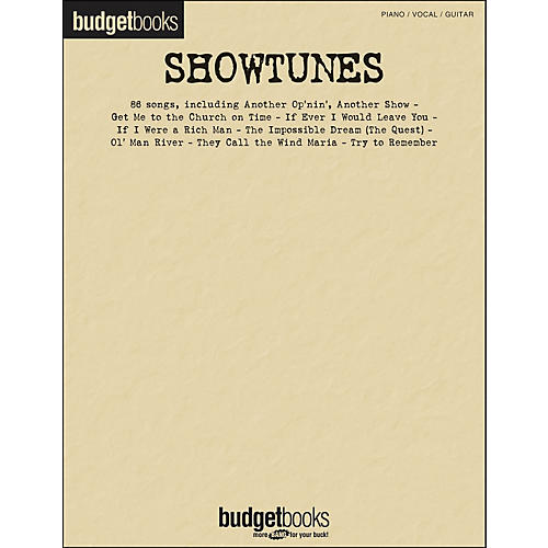 Hal Leonard Showtunes - Budget Book arranged for piano, vocal, and guitar (P/V/G)-thumbnail