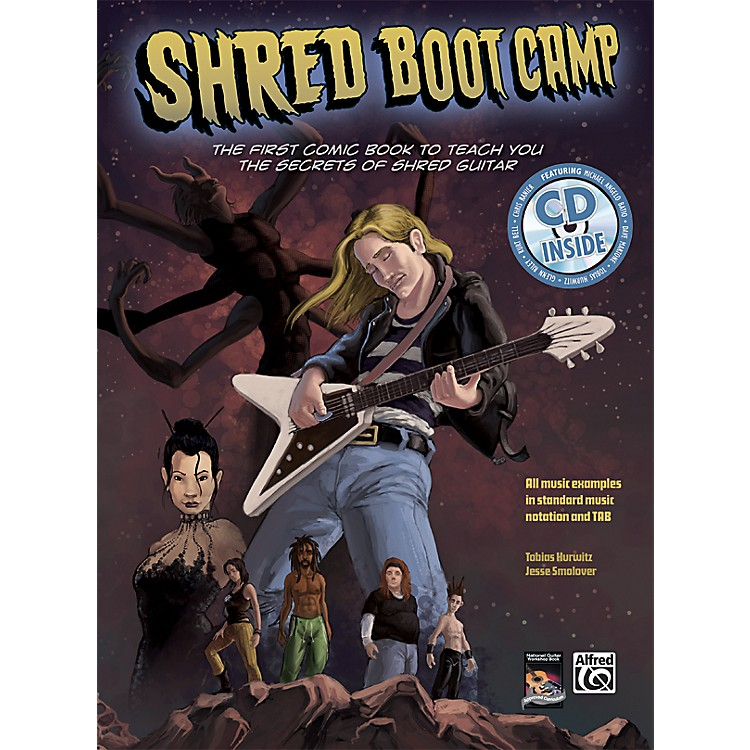 Alfred Shred Boot Camp: The First Comic Book to Teach You the Secrets of Shred Guitar (Book/CD)