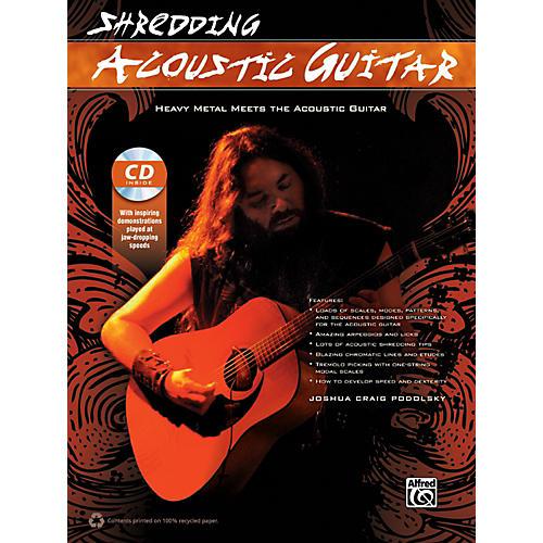 Alfred Shredding Acoustic Guitar Book & CD-thumbnail