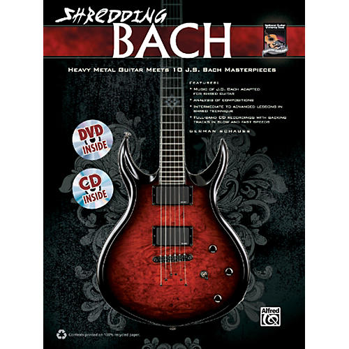 Alfred Shredding Bach Book, CD & DVD