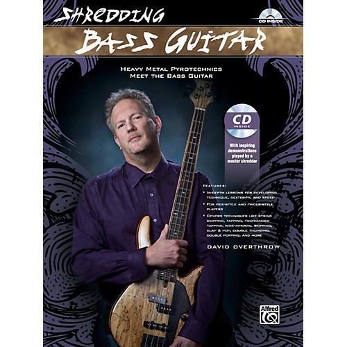 Alfred Shredding Bass Guitar: Heavy Metal Pyrotechnics Meet the Bass Guitar Book & CD-thumbnail