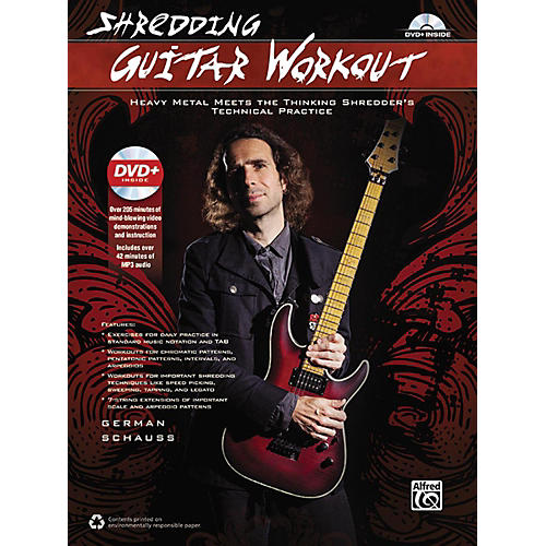 Alfred Shredding Guitar Workout: Heavy Metal Meets the Thinking Shredder's Technical Practice Book & DVD-thumbnail