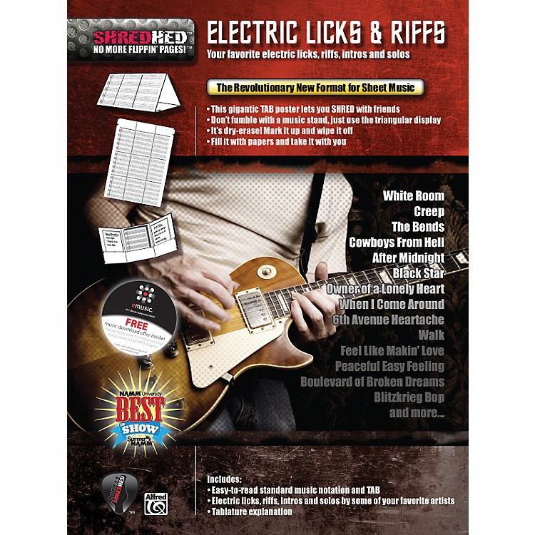 Alfred Shredhed Electric Licks & Riffs Poster
