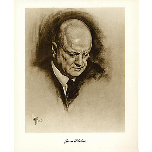 Music Sales Sibelius (Lupas Small Portrait Poster) Music Sales America Series-thumbnail
