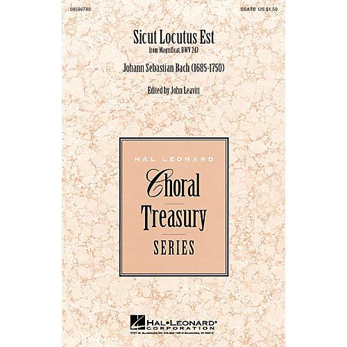 Hal Leonard Sicut Locutus Est SSATB arranged by John Leavitt