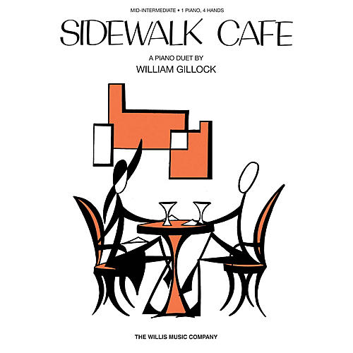 Willis Music Sidewalk Cafe (1 Piano, 4 Hands/Early Inter Level) Willis Series by William Gillock-thumbnail