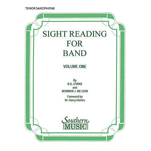 Southern Sight Reading for Band, Book 1 (B-Flat Tenor Saxophone) Concert Band Level 2 Composed by Billy Evans-thumbnail