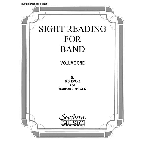 Southern Sight Reading for Band, Book 1 (E-Flat Baritone Saxophone) Concert Band Level 2 Composed by Billy Evans-thumbnail