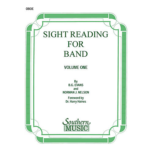 Southern Sight Reading for Band, Book 1 (Oboe) Southern Music Series by Billy Evans-thumbnail
