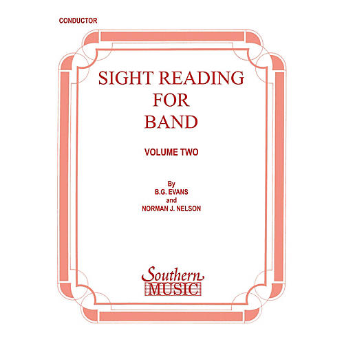 Southern Sight Reading for Band, Book 2 (Conductor) Concert Band Level 2 Composed by Billy Evans