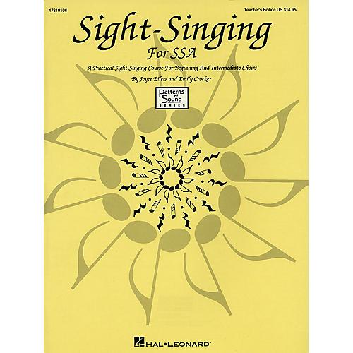 Hal Leonard Sight-Singing for SSA (Resource) TEACHER ED composed by Emily Crocker-thumbnail