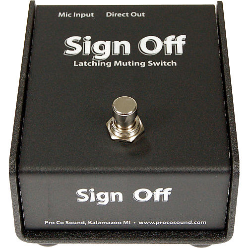 Pro Co Sign Off Latching Mic Mute Switch
