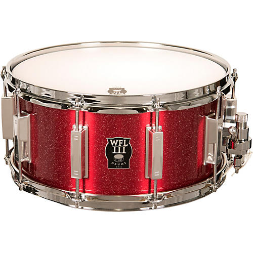 wfliii drums signature metal snare drum with chrome hardware 14 x 6 5 in rockin 39 red musician. Black Bedroom Furniture Sets. Home Design Ideas