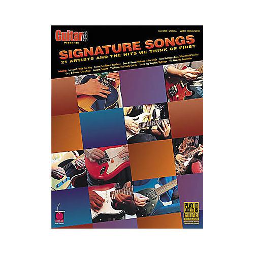 Cherry Lane Signature Songs Guitar Tab Songbook