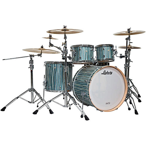 Ludwig Signet 105 Terabeat 4-Piece Shell Pack Alpine Blue