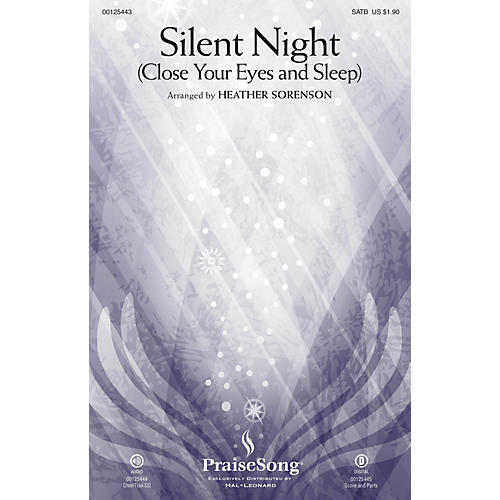 PraiseSong Silent Night (Close Your Eyes and Sleep) CHOIRTRAX CD Arranged by Heather Sorenson-thumbnail