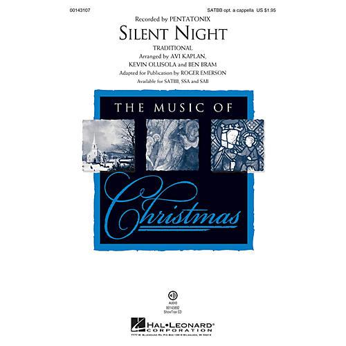 Hal Leonard Silent Night SAB by Pentatonix Arranged by Roger Emerson