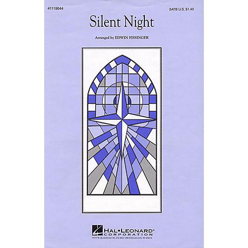 Hal Leonard Silent Night SATB a cappella arranged by Edwin Fissinger