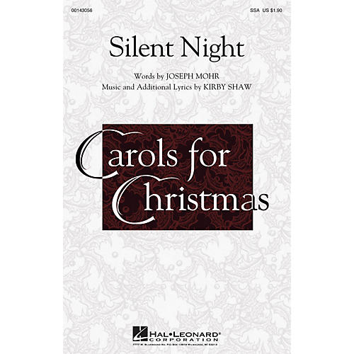 Hal Leonard Silent Night SSA composed by Kirby Shaw