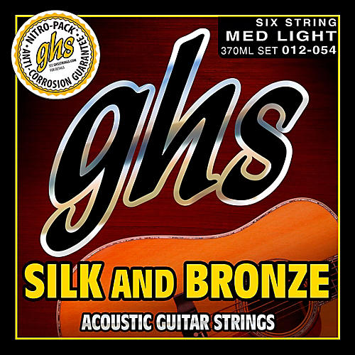 GHS Silk/Phospor Bronze Light Acoustic Guitar Strings (12-54)-thumbnail