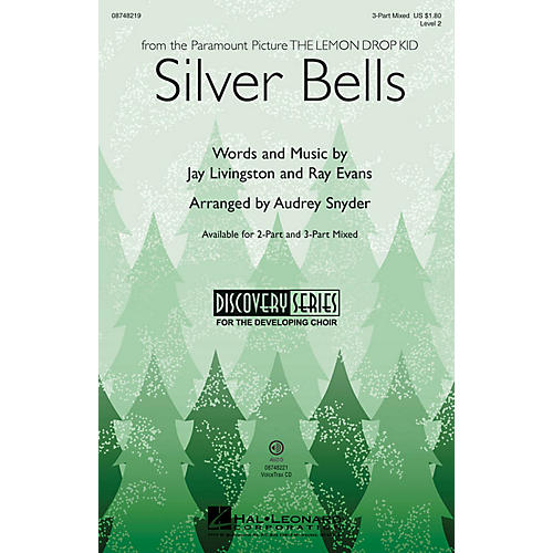 Hal Leonard Silver Bells (Discovery Level 2) 3-Part Mixed by Bing Crosby arranged by Audrey Snyder-thumbnail