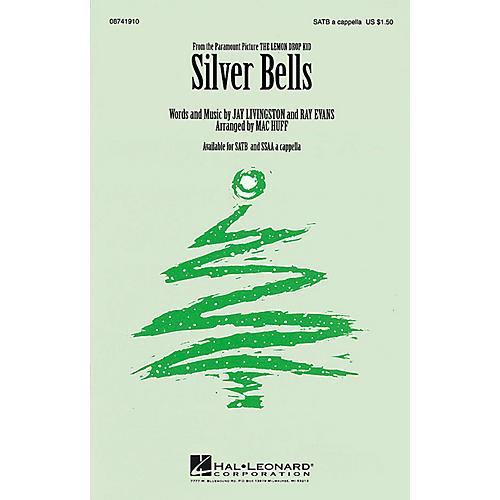 Hal Leonard Silver Bells SATB a cappella arranged by Mac Huff-thumbnail