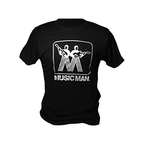 Ernie Ball Music Man Silver Man Logo T-Shirt Black Large