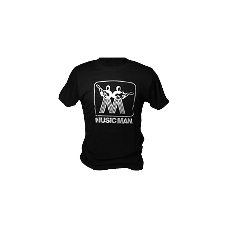Music Man Silver Man Logo T-Shirt Black Large
