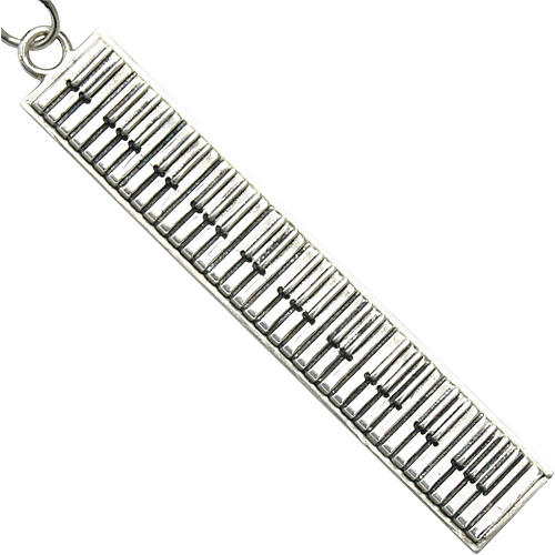 Jeffrey David Silver Piano Keychain
