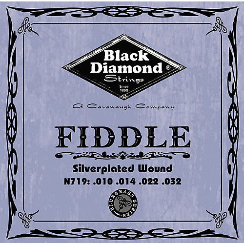 Black Diamond Silver-Plated Fiddle Strings