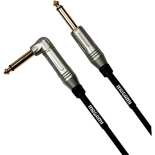 Mogami Silver Series Guitar Cable Straight to Right Angle-thumbnail