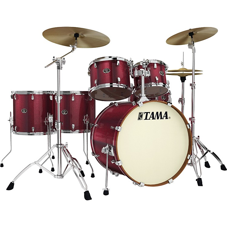 Tama Silverstar 6-Piece Accel-Driver Shell Pack Vintage Burgundy Sparkle