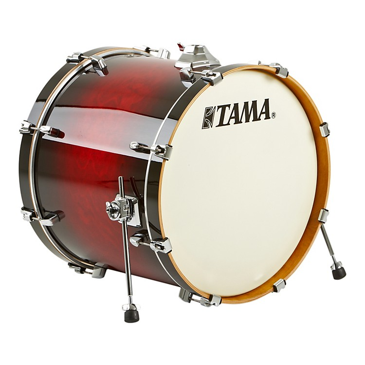 Tama Silverstar Custom Bass Drum Transparent Red Burst 18x22