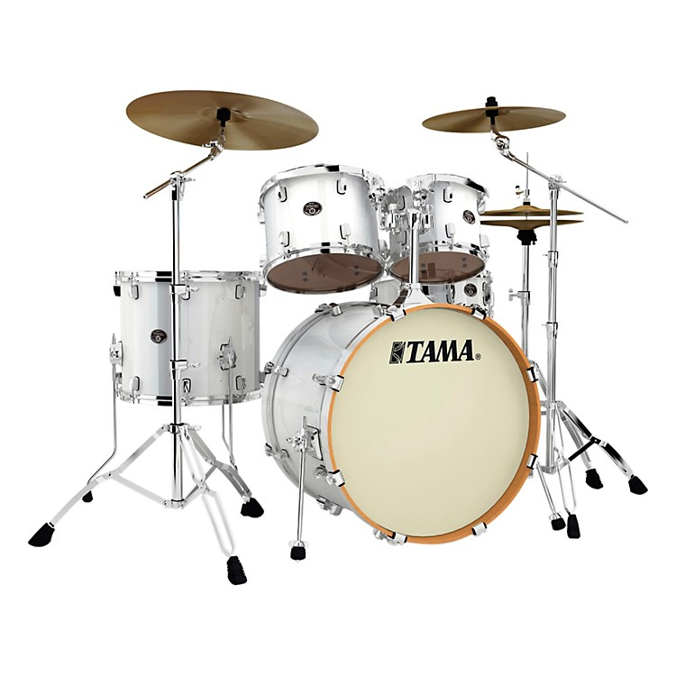 Tama Silverstar Lacquer 5-Piece Accel-Driver Shell Pack Piano White