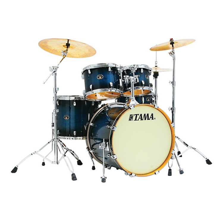Tama Silverstar Lacquer 5-Piece Accel-Driver Shell Pack Transparent Blue Burst