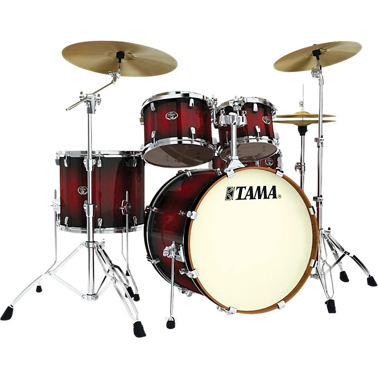 Tama Silverstar Lacquer 5-Piece Accel-Driver Shell Pack Transparent Red Burst