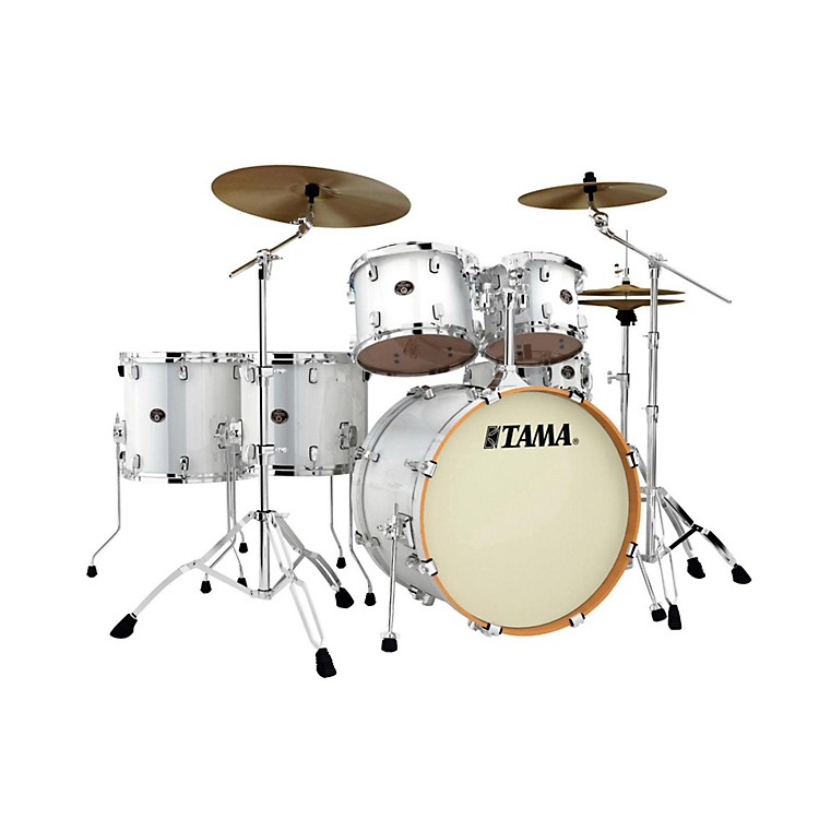 TamaSilverstar Lacquer 6-Piece Accel-Driver Shell PackPiano White